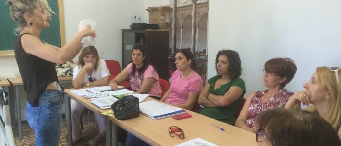 Alumnas del curso de cuidados y necesidades  de las personas mayores dependientes en Almagro